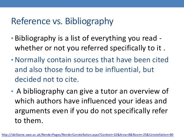 reference essays bibliography