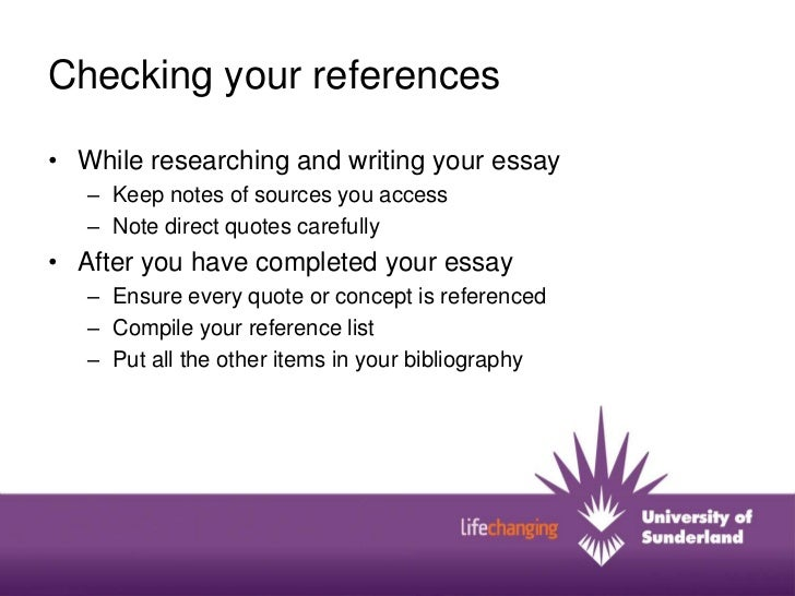 how to use in text referencing