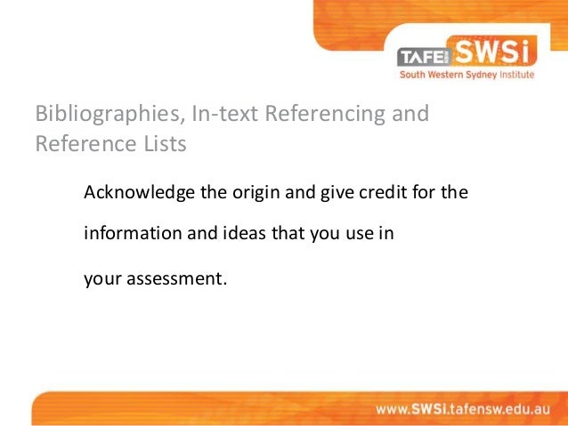Referencing your resources   harvard Slide 2