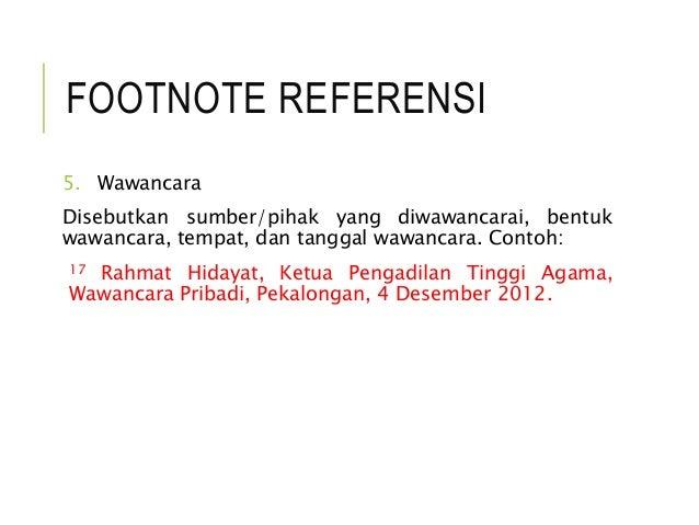 Referensi Footonote