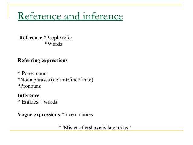 Referential And Attributive Uses Chapter 3 George Yule