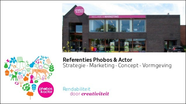 Referenties Phobos & Actor Strategie - Marketing - Concept - Vormgeving