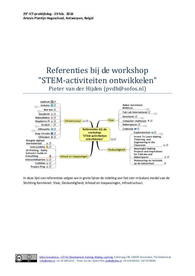 29e ICT-praktijkdag - 29 feb. 2016 Artesis Plantijn Hogeschool, Antwerpen, België Sofos Consultancy – ICT-for-Development:...