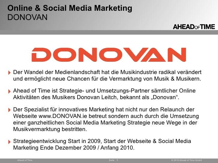 Online & Social Media Marketing DONOVAN     ‣ Der Wandel der Medienlandschaft hat die Musikindustrie radikal verändert   u...