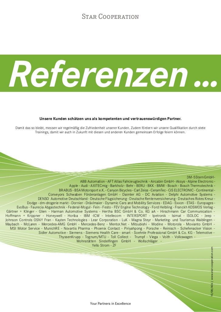 Star Cooperation Referenzen ...                      Unsere Kunden schätzen uns als kompetenten und vertrauenswürdigen Par...