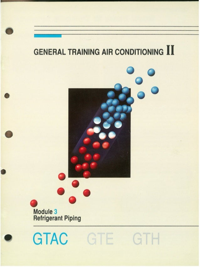 REFRIGERANT pipING module 3 GTAC