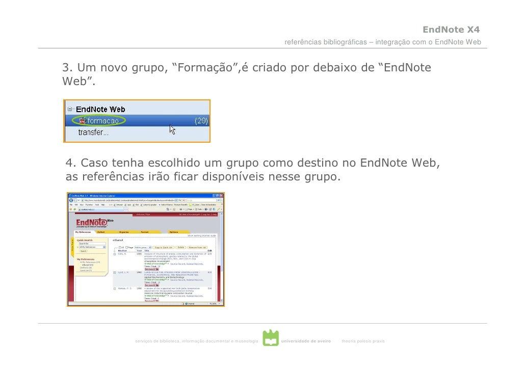 EndNote X4                                                                           referências bibliográficas – integraç...