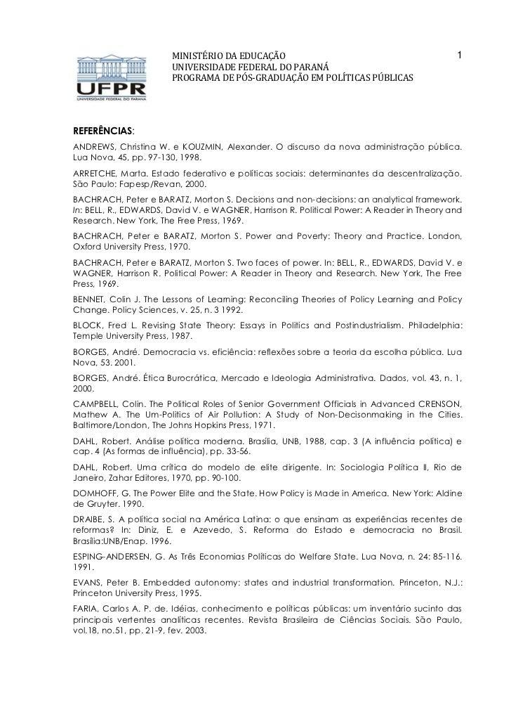 MINISTÉRIO DA EDUCAÇÃO                                              1                       UNIVERSIDADE FEDERAL DO PARANÁ...