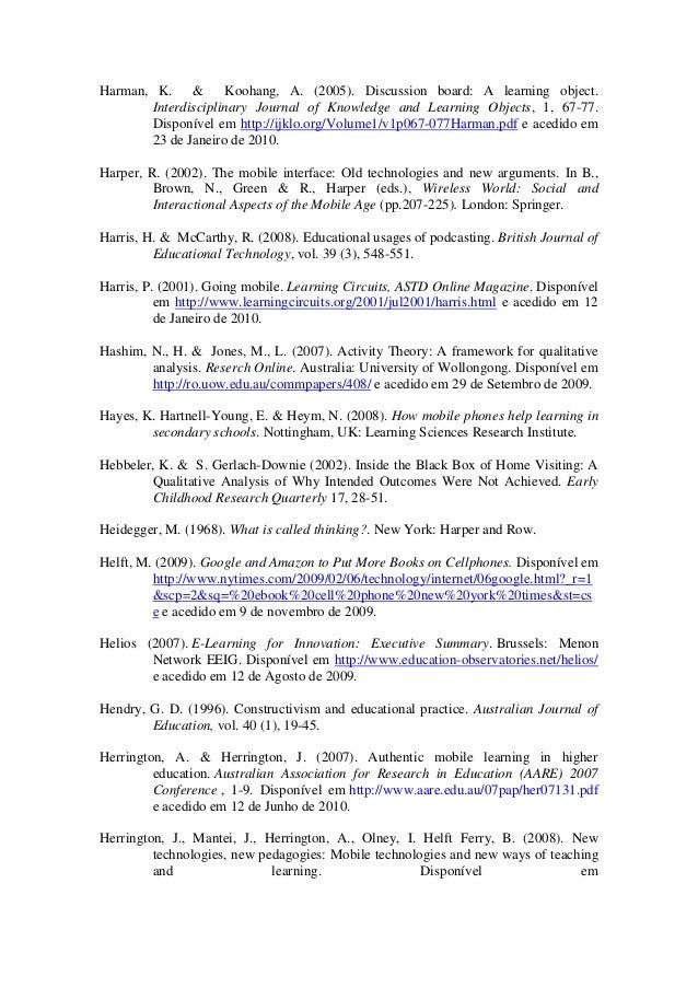 Referncias da tese apropriao do telemvel como ferramenta de med 25 fandeluxe Images