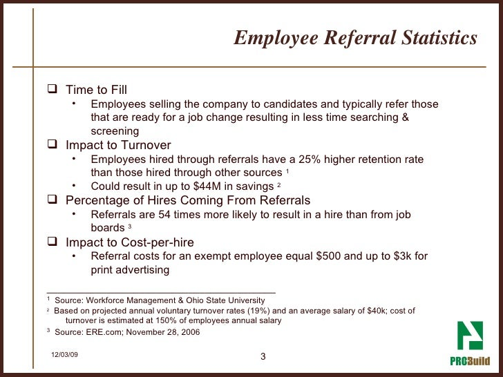 Employee Referral Statistics ...
