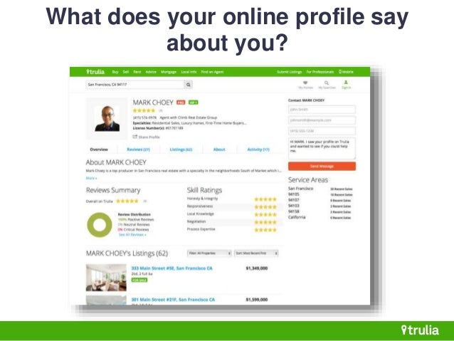 Online Say Does You What Profile Your About