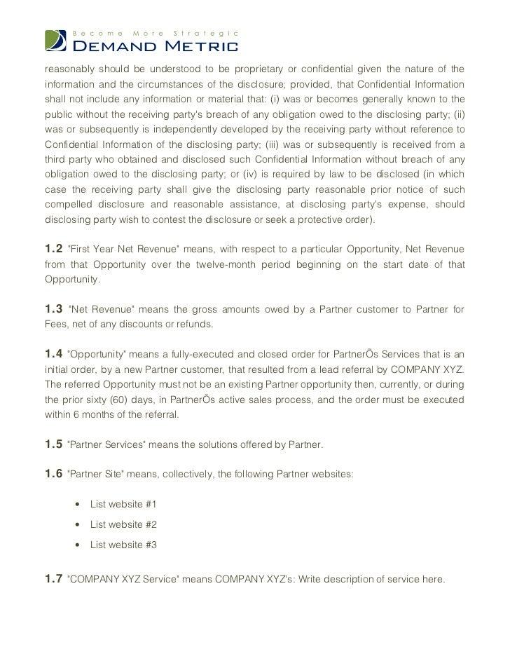 Sales Partnership Agreement