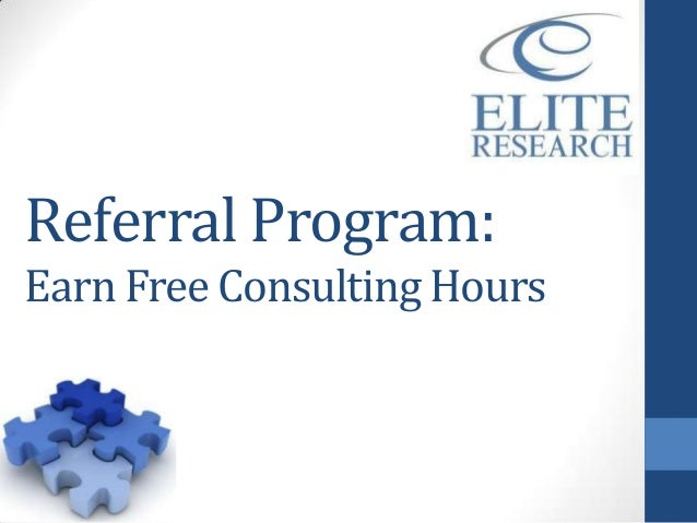 Referral Program:Earn Free Consulting Hours
