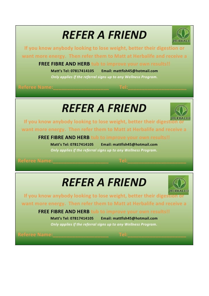 Referral voucher for Refer a friend email template