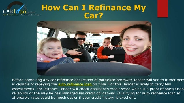 Refinance Auto Loan With Bad Credit >> Refinance Auto Loan Bad Credit, Refinancing Car Loan for