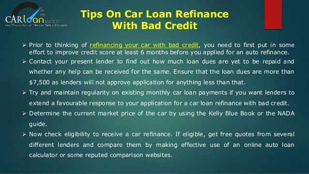 Refinance car loan for bad credit 15