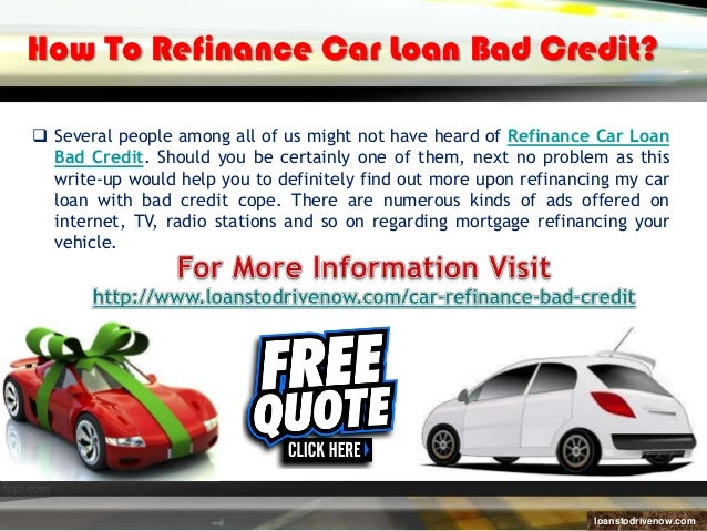Refinancing Car Loan With Bad Credit Instant Approval