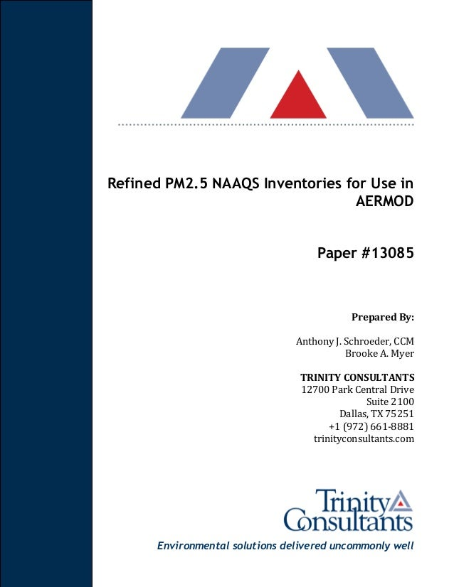 Refined PM2 5 NAAQS Inventories for Use in AERMOD