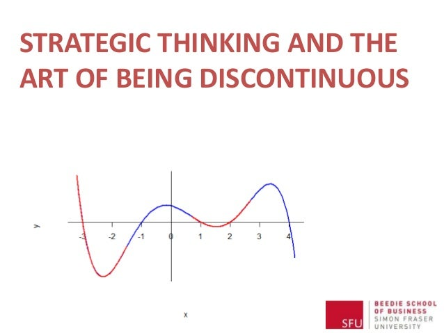 Strategic Thinking and the Art of Being Discontinuous