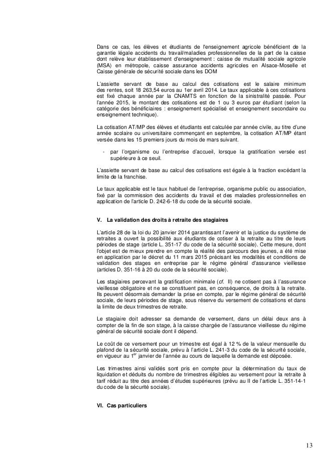 Accoss Lettre Circulaire N 2015 0000042 Stagiaire