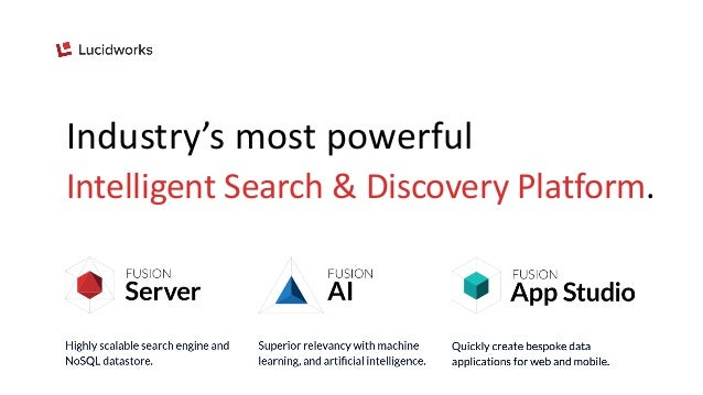 Industry's most powerful Intelligent Search & Discovery Platform.