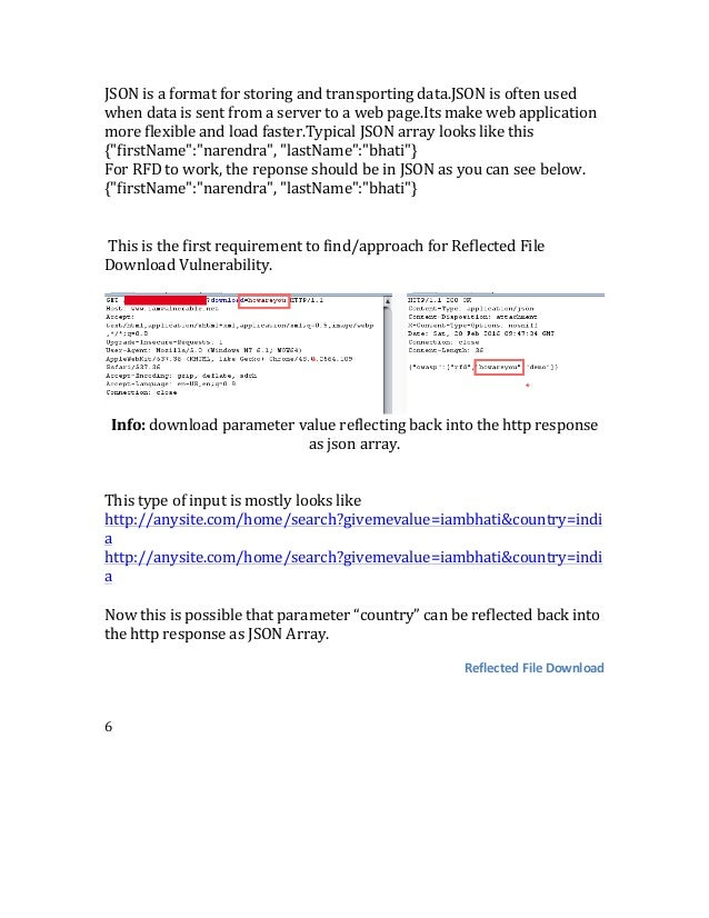 Reflected File Download Vulnerability - Narendra Bhati