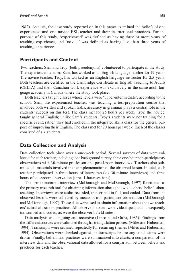 teaching experience essay