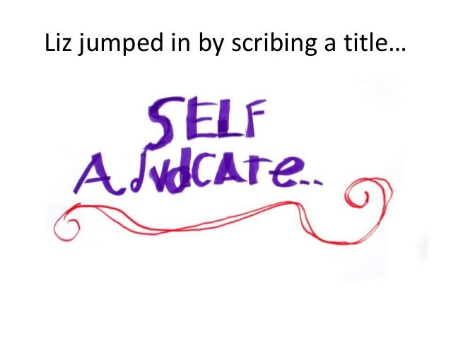 Liz jumped in by scribing a title…
