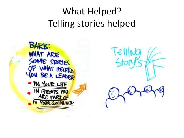 The idea of stories, which was something that Barb and Liz had predicted the importance of, came up several times – self a...