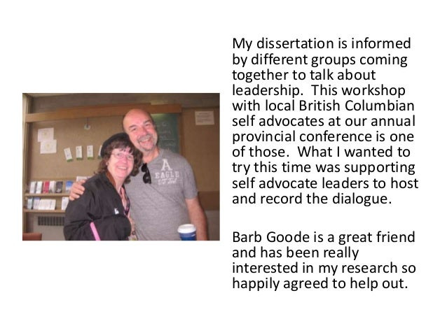 My dissertation is informed by different groups coming together to talk about leadership. This workshop with local British...