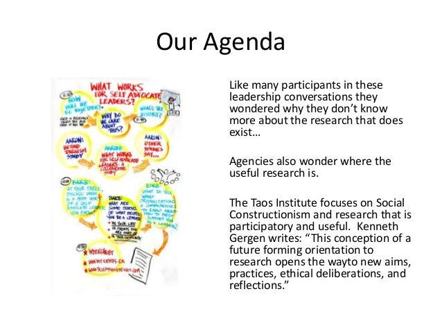 Our Agenda Like many participants in these leadership conversations they wondered why they don't know more about the resea...