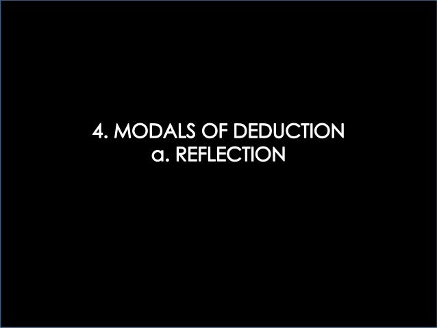 4 > MODALS OF DEDUCTION: REFLECTION
