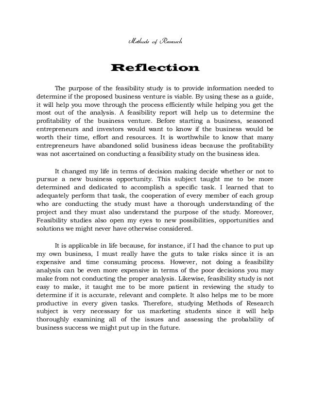reflective essay on