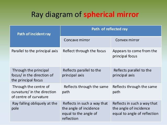 Reflection Of Light In Spherical Mirror