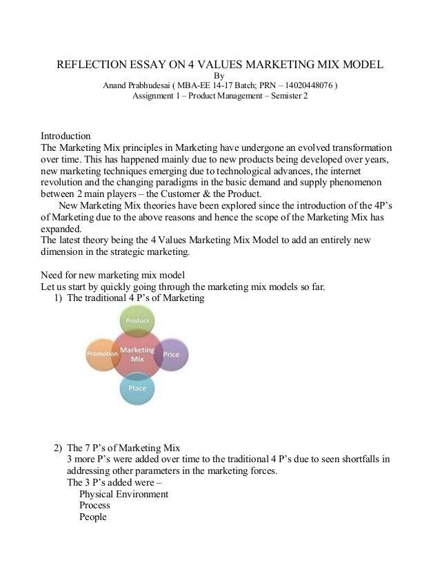 marketing mix essay pdf