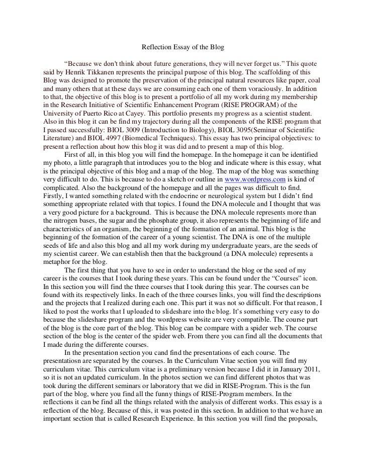 Essay of
