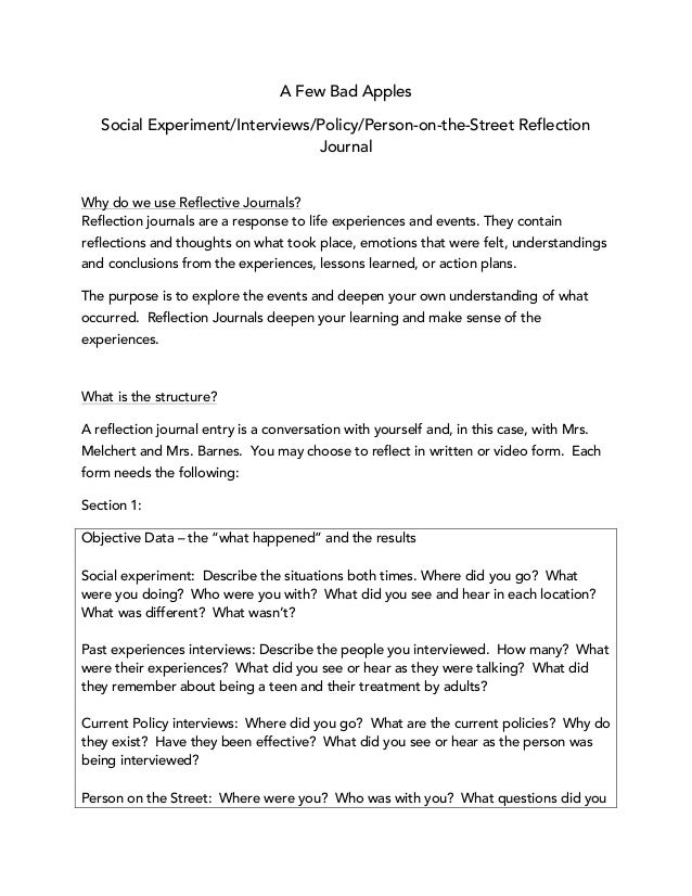 reflection journal essay 2015-10-5 below, i'll show you how to create a killer reflective essay outline,  as well as the overall takeaway from your reflection for example,.