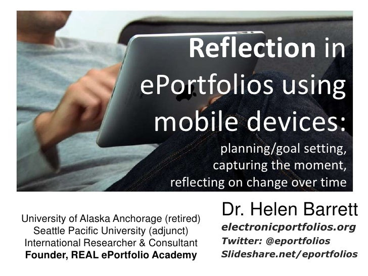 Reflection in                          ePortfolios using                           mobile devices:                        ...