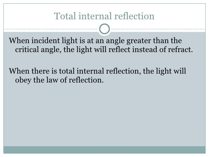 reflection refraction and light 2010