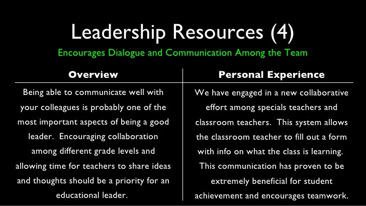 reflection about instructional leadership Her instructional expertise and knowledge of  related to instructional leadership and methods principals  to promote reflection and collaborative.