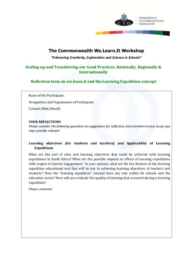 """The Commonwealth We.Learn.It Workshop """"Enhancing Creativity, Exploration and Science in Schools"""" Scaling-up and Transferri..."""