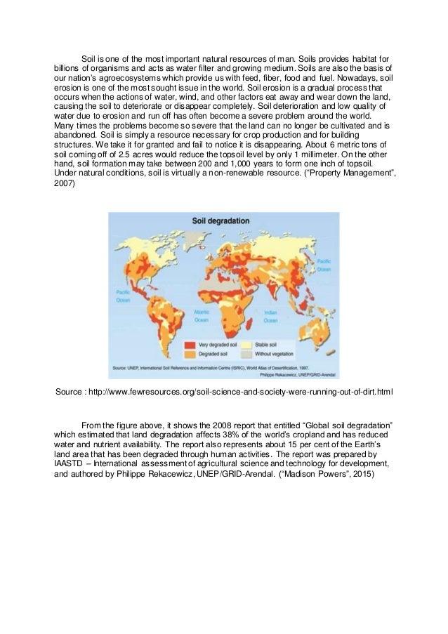 Soil erosion prevention essay