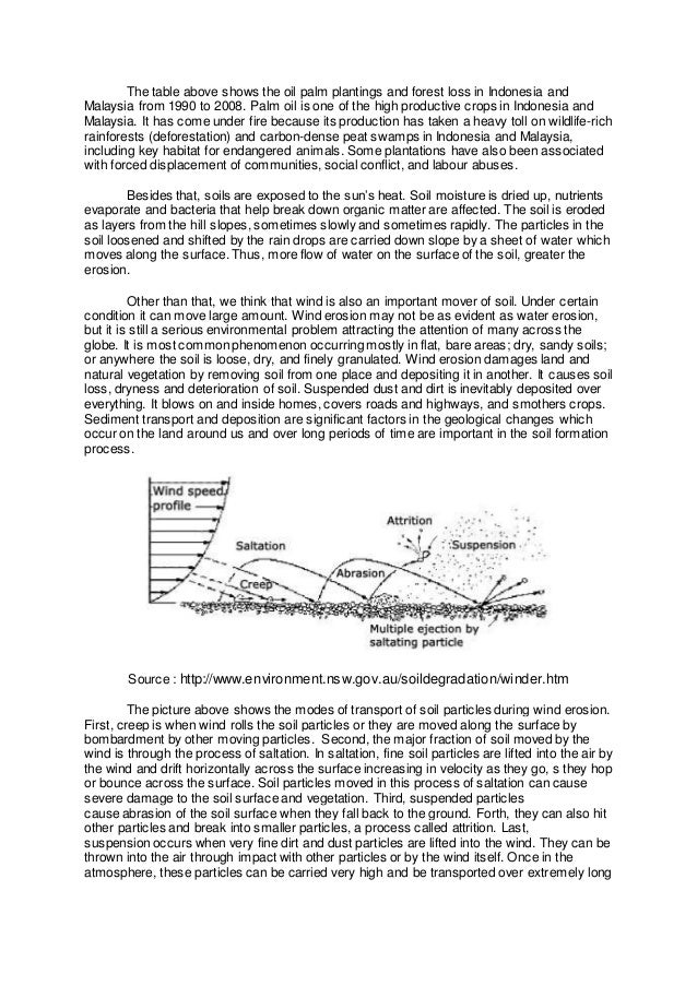 Essay on soil erosion