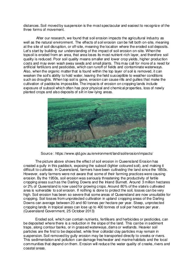 reflective essay on soil erosion  4 distances soil
