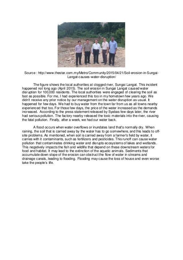 reflective essay on soil erosion 5