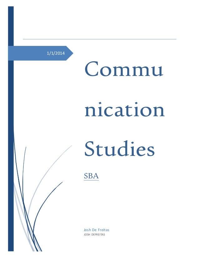 communication studies sba journal