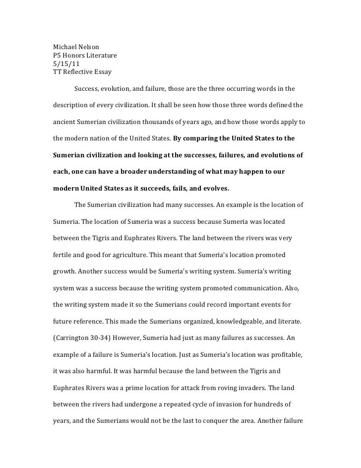 personal reflection essay sample reflection paper examples how to resume template essay sample free essay sample - Personal Reflective Essay Examples
