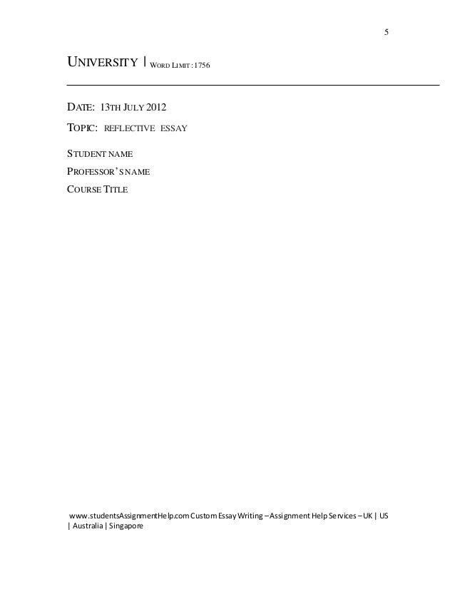 reflective essay individual  5