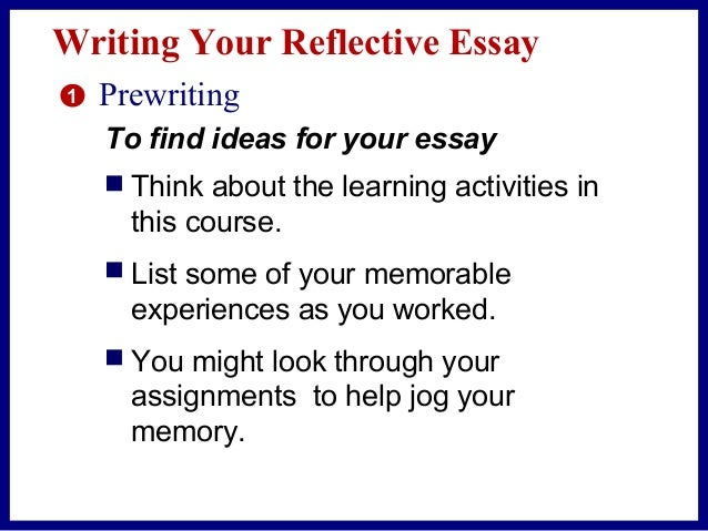 reflective essay on the writing process
