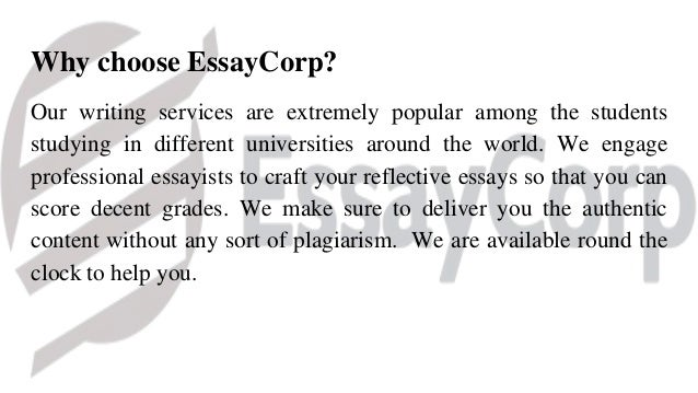 Help with writing a reflective essay